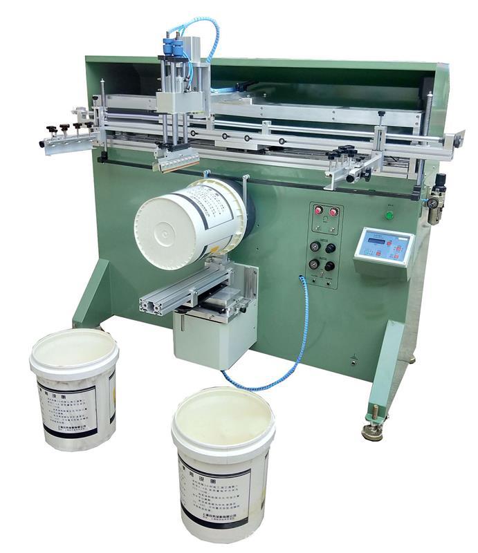涂料桶絲印機廠家塑料桶滾印機紙板桶絲網印刷機