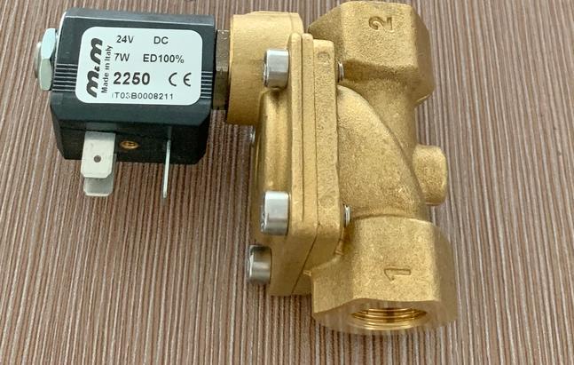 意大利M&M型号B204DBZ黄铜蒸汽螺纹电磁阀