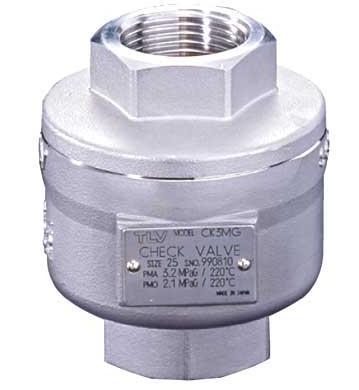 日本TLV型號CK3MG圓盤彈簧式蒸汽止回閥
