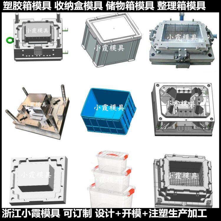 臺州做折疊儲藏箱子塑膠模具周轉箱塑膠模具