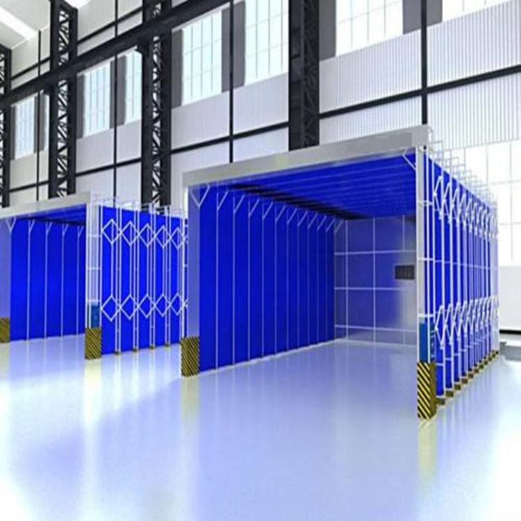 電動伸縮噴漆房 一鍵遙控節省空間
